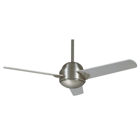 Casablanca Trident 54-in Brushed Nickel Ceiling Fan with Light Kit and Remote