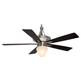 Casablanca Colorado 60-in Brushed Nickel Downrod Mount Indoor Ceiling Fan with Light Kit and Remote Control