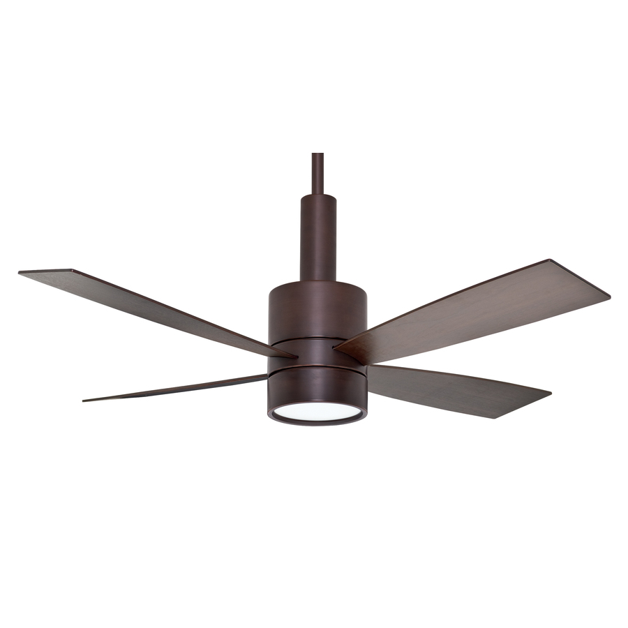 in brushed cocoa downrod mount ceiling fan with light kit at. Black Bedroom Furniture Sets. Home Design Ideas