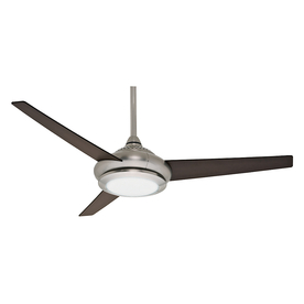 Casablanca 52-in Tercera Brushed Nickel Ceiling Fan with Light Kit