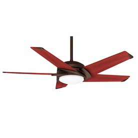 Casablanca Stealth Dc 54-in Alpha Bronze Downrod Mount Ceiling Fan with Light Kit and Remote Control