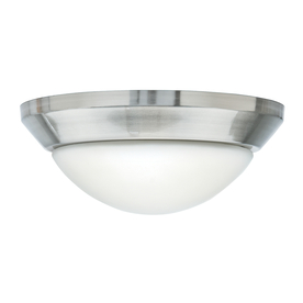 Casablanca 2-Light Brushed Nickel Incandescent Ceiling Fan Light Kit with Frosted Glass