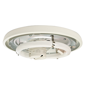 Casablanca Low Profile 1-Light Snow White Fluorescent Ceiling Fan Light Kit
