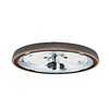 Casablanca Low Profile 2-Light Brushed Cocoa Incandescent Ceiling Fan Light Kit