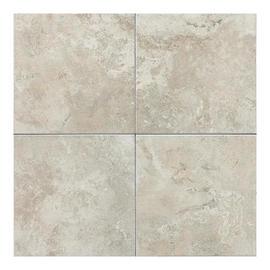 Shop american olean 11 pack pozzalo sail white ceramic floor tile common 12 in x 12 in actual - Lowes floor tiles porcelain ...