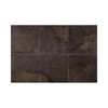 American Olean 11-Pack 12-in x 12-in Volcano Rock Chocolate Thru Body Porcelain Floor Tile
