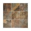 American Olean 8-Pack Kendal Slate Carlisle Black Glazed Porcelain Indoor/Outdoor Floor Tile (Common: 18-in x 18-in; Actual: 17.75-in x 17.75-in)