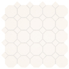 American Olean Sausalito White White Honeycomb Mosaic Ceramic Wall Tile (Common: 12-in x 12-in; Actual: 12-in x 12-in)