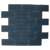 American Olean 12-in x 12-in Delfino Glass Denim Glass Wall Tile