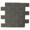 American Olean 12-in x 12-in Charcoal Glass Wall Tile