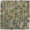 American Olean Delfino Glass Galaxy Uniform Squares Mosaic Glass Wall Tile (Common: 12-in x 12-in; Actual: 12-in x 12-in)