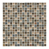 American Olean Delfino Glass Driftwood Glass Mosaic Square Indoor/Outdoor Wall Tile (Common: 12-in x 12-in; Actual: 12-in x 12-in)