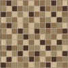 American Olean 12-in x 12-in Mahogany Glass Wall Tile