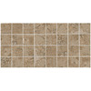 American Olean Bordeaux 12-Pack Marron Uniform Squares Mosaic Porcelain Floor Tile (Common: 12-in x 24-in; Actual: 11.93-in x 23.93-in)
