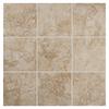 American Olean 54-Pack Bordeaux Chameau Glazed Porcelain Indoor/Outdoor Floor Tile (Common: 6-in x 6-in; Actual: 6.5-in x 6.5-in)