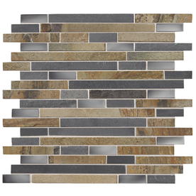 American Olean In X In Delfino Glass Stainless Dream Glass And - American olean 2x2 mosaic tile