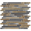 American Olean 12-in x 12-in Delfino Glass Stainless Dream Glass and Metal Wall Tile