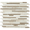 American Olean Delfino Smokey Topaz Mosaic Stone and Glass Wall Tile (Common: 12-in x 12-in; Actual: 11.5-in x 13-in)
