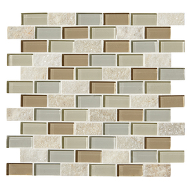 American Olean In X In Delfino Stone Icy Mist Mixed Material - American olean 2x2 mosaic tile