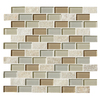 American Olean 12-in x 12-in Delfino Stone Icy Mist Mixed Material  Wall Tile