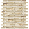American Olean Delfino Glass Cornsilk Mosaic Glass Wall Tile (Common: 12-in x 12-in; Actual: 11.87-in x 12.87-in)