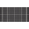 American Olean 12-Pack Unglazed Porcelain Mosaics Abrasive Black Thru Body Porcelain Mosaic Square Indoor/Outdoor Floor Tile (Common: 12-in x 24-in; Actual: 11.93-in x 23.93-in)
