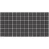 American Olean 12-Pack Unglazed Mosaics Black Thru Body Porcelain Mosaic Square Indoor/Outdoor Floor Tile (Common: 12-in x 24-in; Actual: 11.93-in x 23.93-in)
