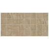 American Olean 12-Pack Stone Claire Russet Ceramic Mosaic Square Indoor/Outdoor Floor Tile (Common: 12-in x 24-in; Actual: 11.93-in x 23.93-in)