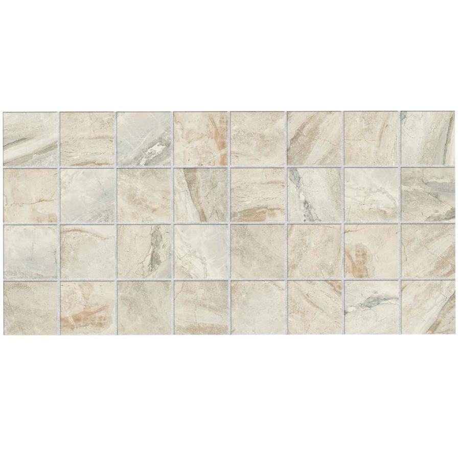 American Olean Pack Danya Stream Ceramic Mosaic Square Floor Tile - American olean 2x2 mosaic tile