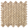 American Olean Delfino Stone Emperador Basketweave Mosaic Wall Tile (Common: 12-in x 12-in; Actual: 12.13-in x 11.63-in)