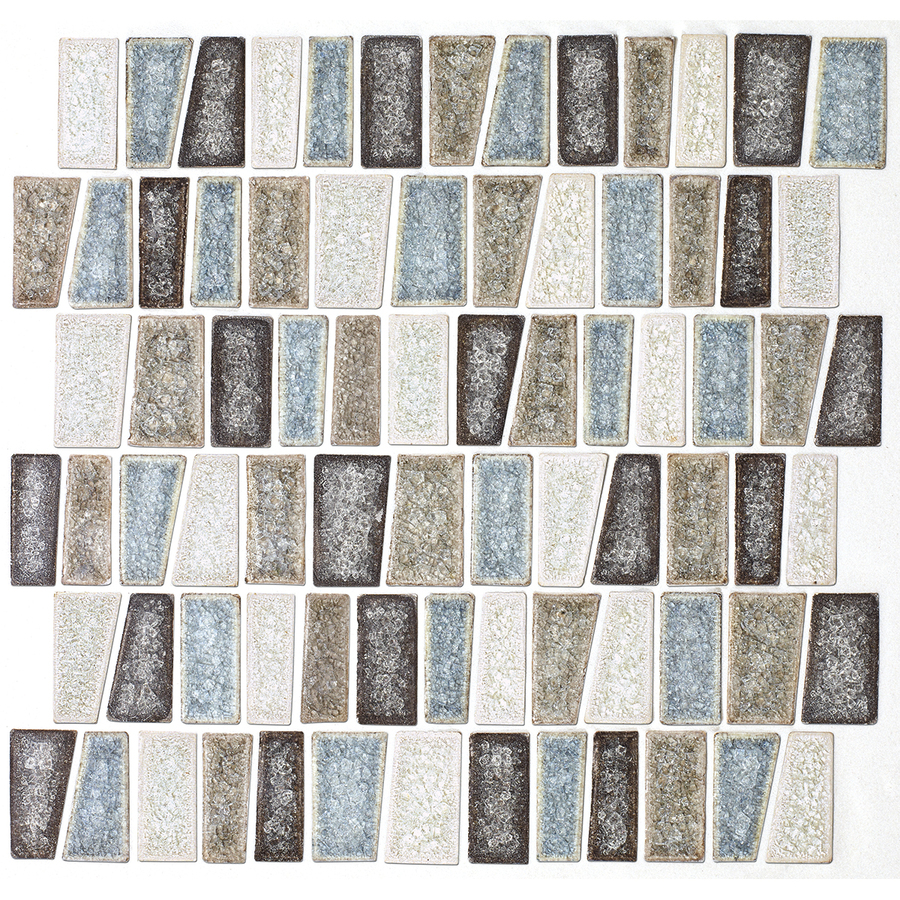 olean delfino crackle sea side glass mosaic indoor outdoor wall tile