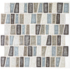 American Olean Delfino Crackle Sea Side Mosaic Glass Wall Tile (Common: 12-in x 12-in; Actual: 12-in x 12-in)