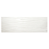 allen + roth Wavecrest White Gloss Ceramic Wall Tile (Common: 4-in x 12-in; Actual: 4.25-in x 12.75-in)