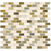 American Olean Forest Lights Mixed Material (Stone and Glass) Mosaic Square Indoor/Outdoor Wall Tile (Common: 12-in x 12-in; Actual: 11.87-in x 12.62-in)