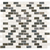 American Olean Northern Lights Mixed Material (Stone and Glass) Mosaic Square Indoor/Outdoor Wall Tile (Common: 12-in x 12-in; Actual: 11.87-in x 12.62-in)