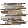 American Olean Bronze Blast Mosaic Glass and Metal Wall Tile (Common: 12-in x 12-in; Actual: 11.73-in x 12.2-in)