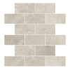 American Olean Elara Ashen Tan Subway Mosaic Ceramic Wall Tile (Common: 12-in x 12-in; Actual: 12-in x 12-in)