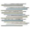 American Olean Quicksilver Glass Mixed Material (Glass and Metal) Mosaic Linear Indoor/Outdoor Wall Tile (Common: 12-in x 15-in; Actual: 12.2-in x 15.2-in)
