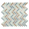 American Olean Royal Palm Glass Mixed Material (Stone and Glass) Mosaic Linear Indoor/Outdoor Wall Tile (Common: 12-in x 12-in; Actual: 11.5-in x 12-in)