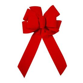 Holiday Living Red Velvet Traditional Decorative Bow