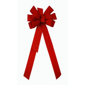 Holiday Living Red Velvet Fleck Deluxe Decorative Bow