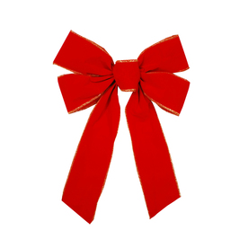 Holiday Living 16-in Wired 4-Loop Decorative Bow