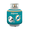 Bottle Skinz 16-in H x 34-in dia Green Polyester Miami Dolphins Propane Tank Cover