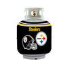 Bottle Skinz 16-in H x 34-in dia Black Polyester Pittsburgh Steelers Propane Tank Cover