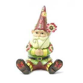 Garden Treasures Floral Gnome Statuary
