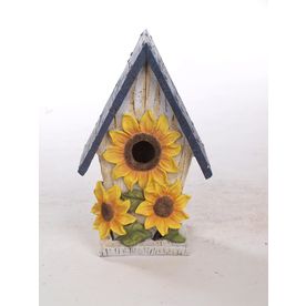 Garden Treasures 10.4-in H x 6.3-in W x 4.4-in D Multicolor Bird House