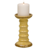 Evergreen Large Yellow Ceramic Candle Holder