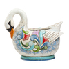 Jim Shore 9.45-in H Swan Planter Garden Statue