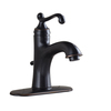 Giagni Pearl Oil-Rubbed Bronze 1-Handle Single hole/4-in Centerset WaterSense Bathroom Sink Faucet (Drain Included)