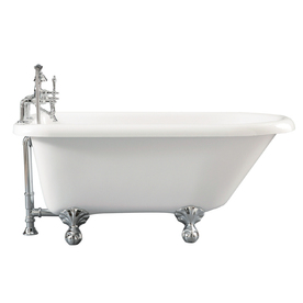 Giagni 54-in x 29-1/2-in Augusta White Oval Clawfoot Tub